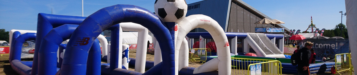 Soccer Stars Inflatable Dribbling Course