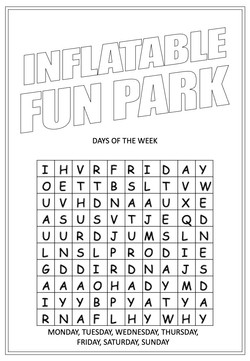 Inflatable Fun Park | Activity Page 16 | Word search