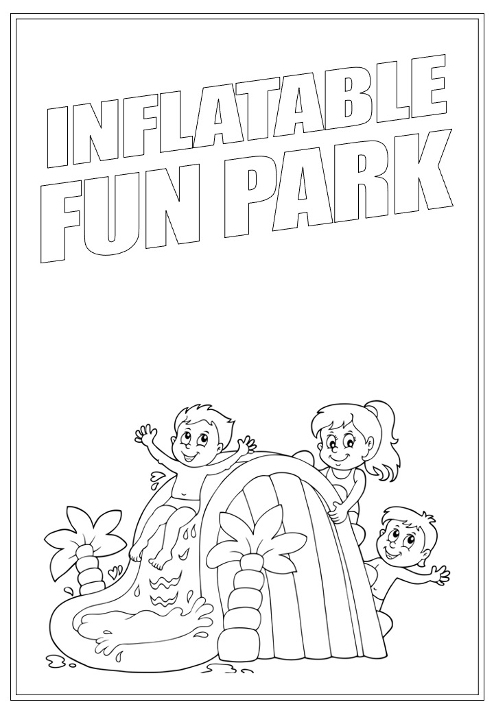 Inflatable Fun Park | Activity Page 33 | Colouring page