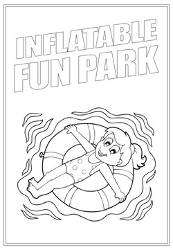 Inflatable Fun Park | Activity Page 32 | Colouring page