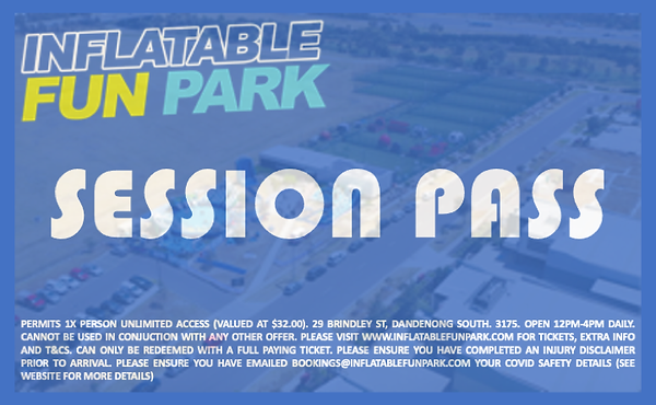 Free Session Pass - Inflatable Fun Park.