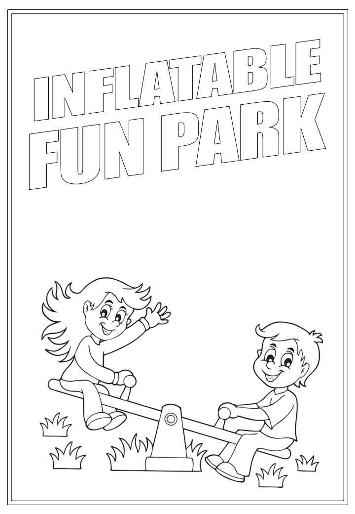 Inflatable Fun Park | Activity Page 21 | Colouring page