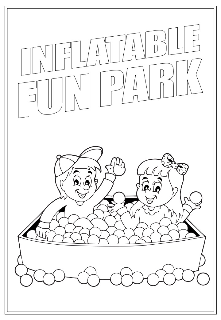 Inflatable Fun Park | Activity Page 35 | Colouring page