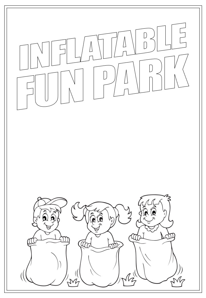 Inflatable Fun Park | Activity Page 24 | Colouring page