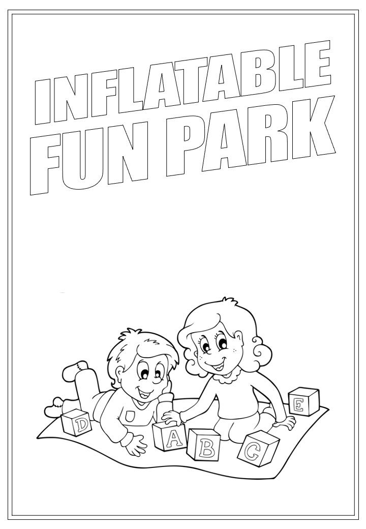 Inflatable Fun Park | Activity Page 27 | Colouring page