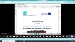 Technical Training on Fundamentals, Platforms and Sensors in Remote Sensing
