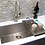 Thumbnail: Stainless steel kitchen sink single bowl