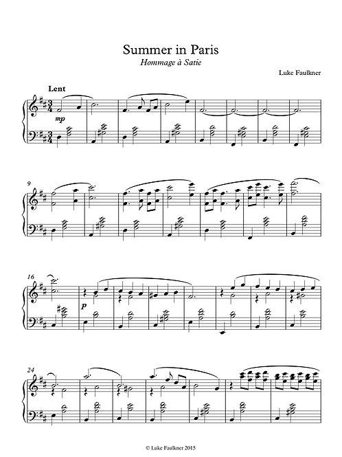 Summer in Paris (Hommage à Satie)