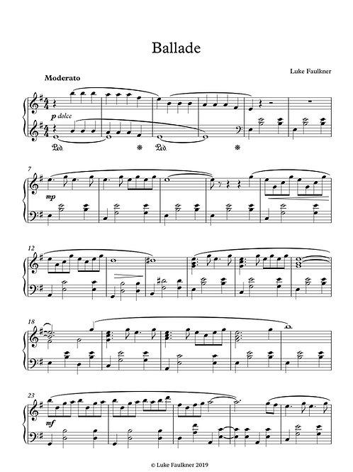 Ballade (piano solo)