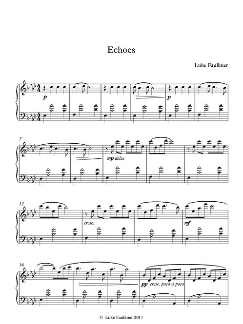 Echoes (piano solo)