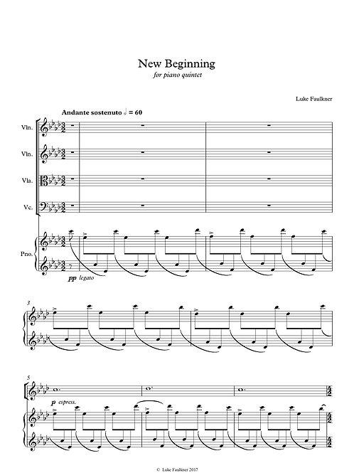 New Beginning (piano quintet)