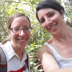 Two teachers in the forest