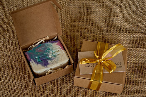 Gift box with one soap