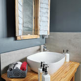 whale tale studio bathroom