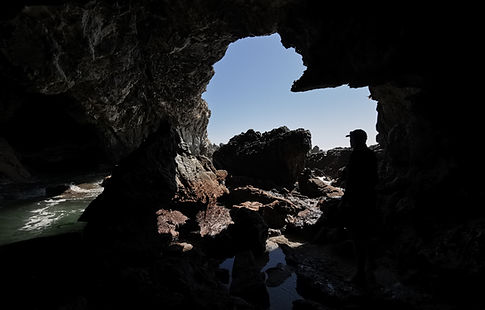 Whale Tale exploring caves