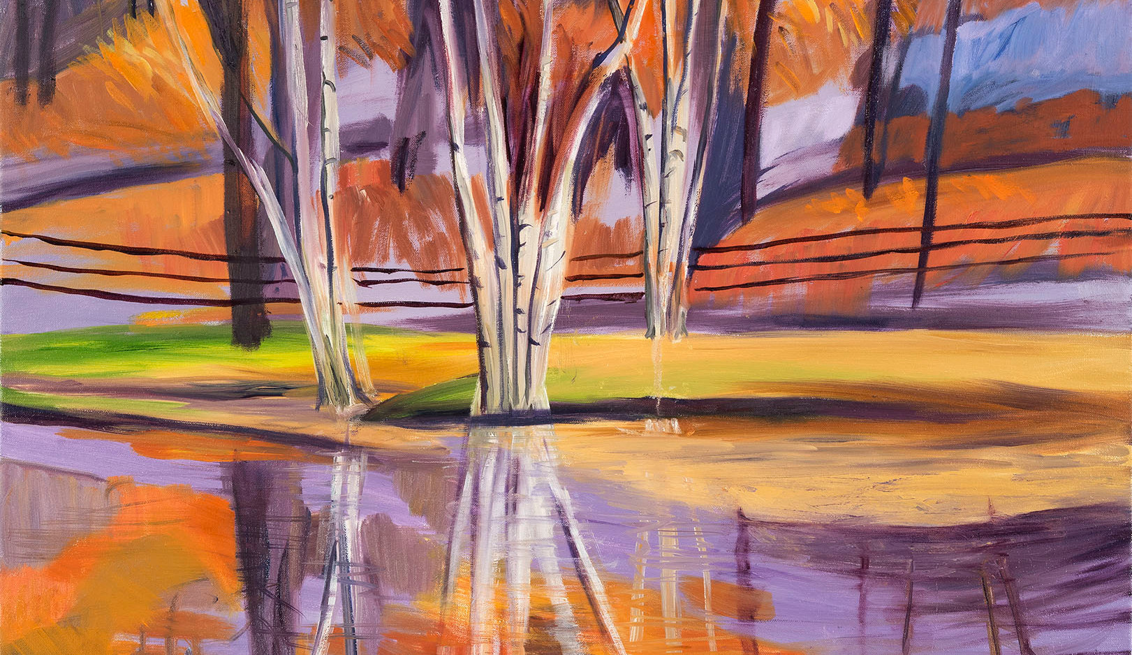 [SOLD] Embrace the Birches, 30x30