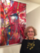 Hilda Demsky with mylar installation