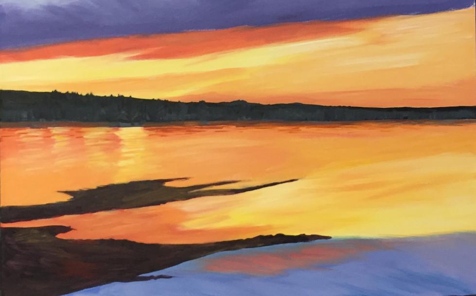 Sunset #4, 24x24