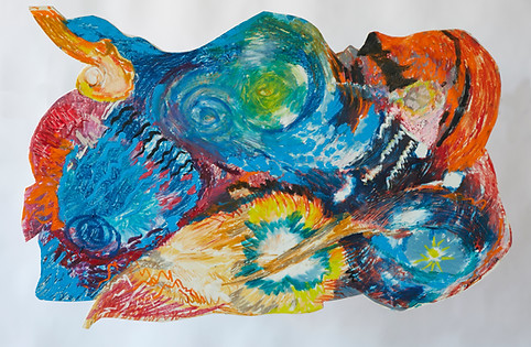 [SOLD] Set Nature in Motion, 24x37, collage