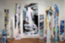 Mylar installation in Hilda Demsky's Studio