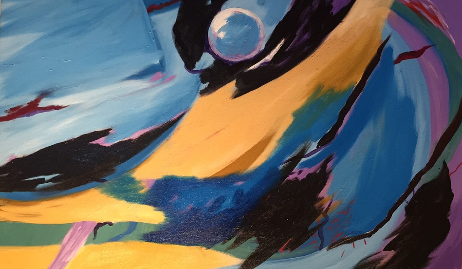 Once in a Blue Moon, 24x36