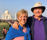 Iris an Howard Burkat in front of Taj Mahal, Burkat Global