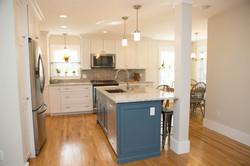 Custom Home Addition NH island