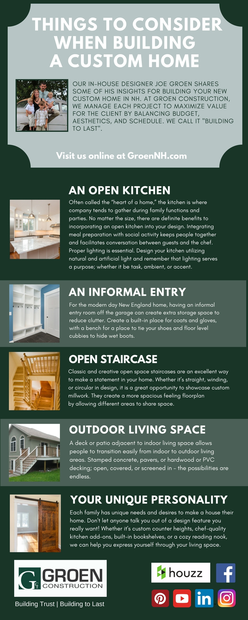 Things to Consider When Building A Custom Home - Groen Construction - Custom Home Builder