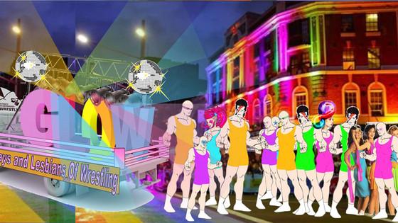 Sydney Silverbacks Present GLOW @ Mardi Gras Parade