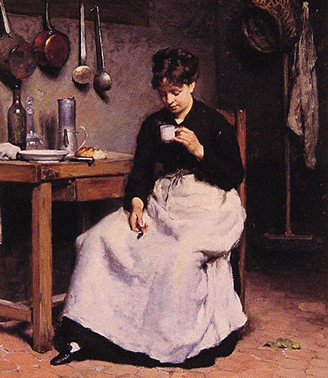 La tazza di caffè – Victor Gabriel Gilbert - 1877