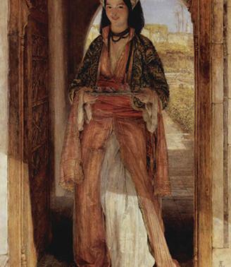 """The Coffee Bearer"" - John Frederick Lewis - 1857"
