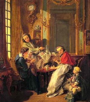 elegante colazione nel 1700