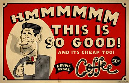 Manifesti pubblicitari del caffè