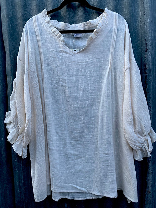 Peasant Top with pleats