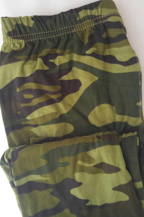 Green Camo Leggings