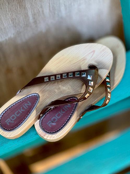 Faux Wood Sandals