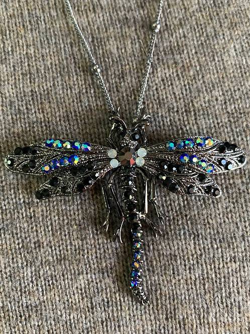 Dragonfly Crystal Necklace