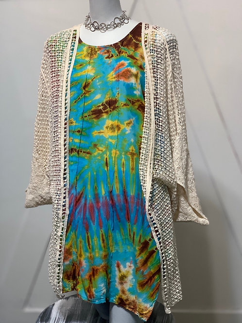 Ivory Crochet Duster Jacket