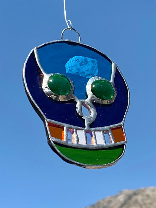 Mini Skull Stained Glass