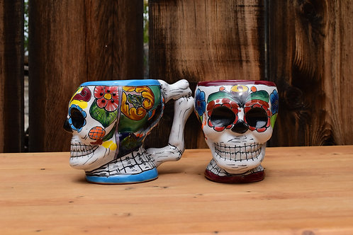 Hand Painted Day of the Dead Mug
