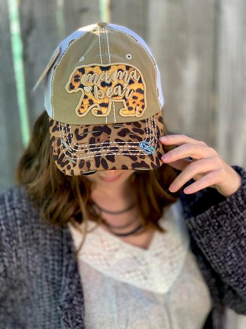 Cheetah Print Mama Bear Hat