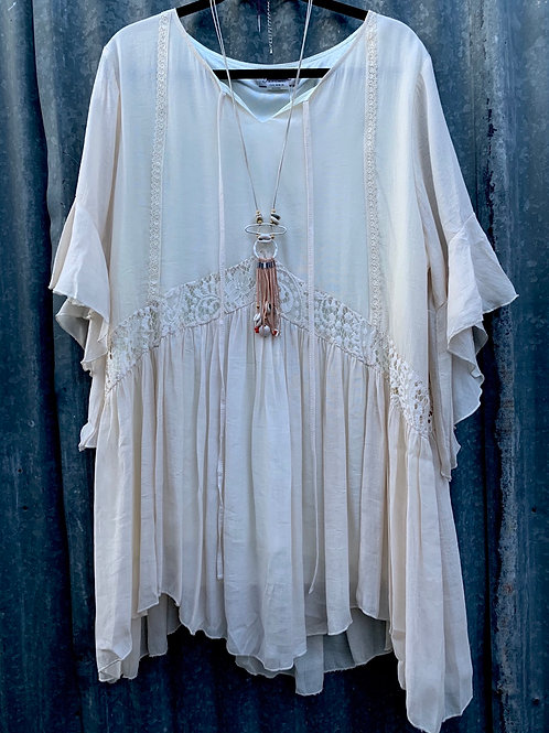 Peasant Top with Butterfly Sleeves