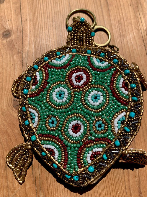 Turtle Key Chain Coin Purse Key Fab Mary Frances