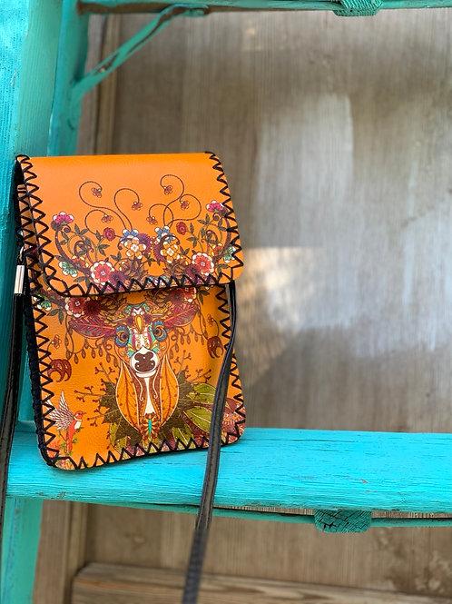 Floral Deer Crossbody Bag