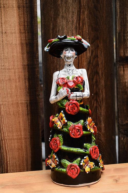 Ceramic Hand Painted Catrina Doll