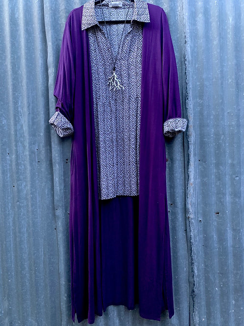 Knit Duster with Side Slits