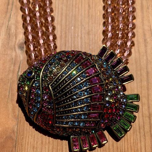 Swarovsky Crystal Fish Necklace