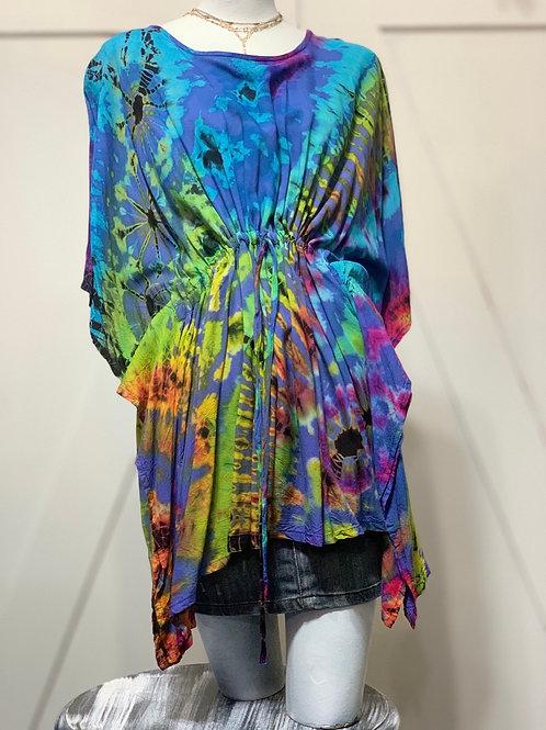 Tie Dye Poncho Dress