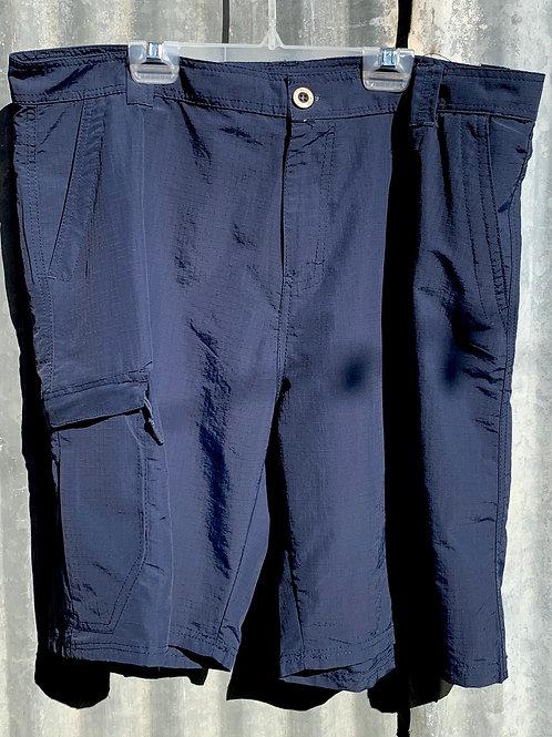 Navy Nylon Shorts
