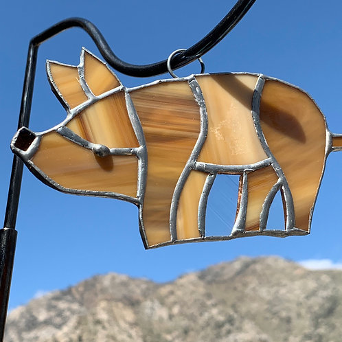 Pig Stained Glass